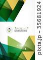 トライアングル 三角 三角形のイラスト 35681924