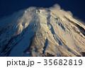 富士山 冬 雪山の写真 35682819