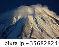 富士山 冬 雪山の写真 35682824