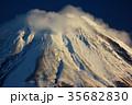 富士山 冬 雪山の写真 35682830