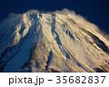 富士山 冬 雪山の写真 35682837