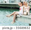 女の子 女子 3つの写真 35689632