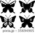 蝶のシルエット 35694905