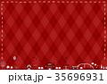 テーマパーク 赤 手描きステッチ 35696931
