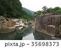 信州 木曽路の景勝 寝覚の床 木曽川に侵食された奇岩がならぶ 浦島太郎伝説も残る 35698373