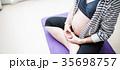 妊婦 マタニティヨガ 顔なしの写真 35698757