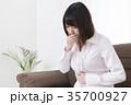 ノロウイルス・ウイルス性胃腸炎・食中毒イメージ 腹痛 吐き気 35700927