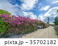 竹富島 観光地 夏の写真 35702182