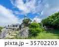 竹富島 観光地 夏の写真 35702203