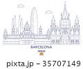 Barcelona City Skyline, Spain 35707149