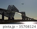 東京ゲートブリッジ 飛行機 ゲートブリッジの写真 35708124
