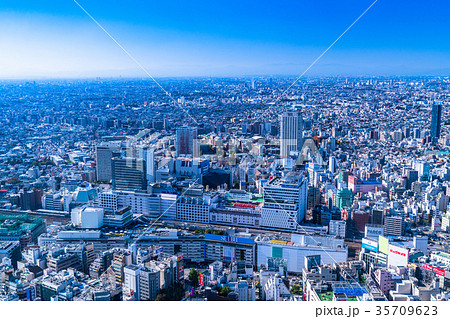 《東京都》池袋・都市風景 35709623
