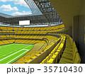 Modern American football Stadium with yellow seats 35710430