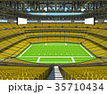 Modern American football Stadium with yellow seats 35710434
