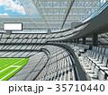 Modern American football Stadium with white seats 35710440