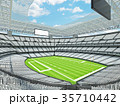 Modern American football Stadium with white seats 35710442