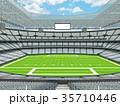 Modern American football Stadium with white seats 35710446