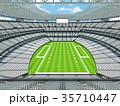 Modern American football Stadium with white seats 35710447