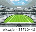 Modern American football Stadium with white seats 35710448
