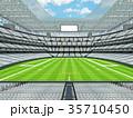 Modern American football Stadium with white seats 35710450