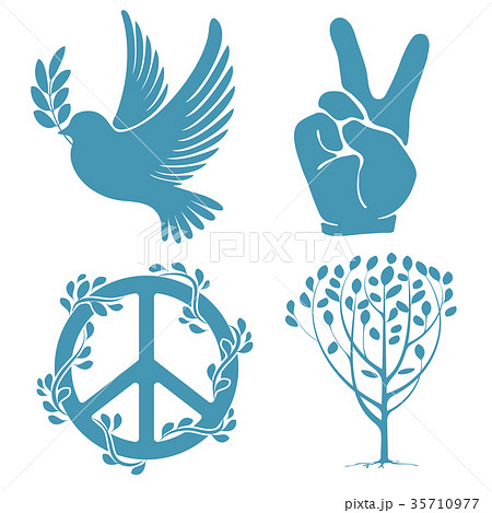 Set of peace symbols 35710977