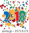2018 数字 ベクターのイラスト 35713173