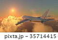 飛行機 乗り物 旅客機のイラスト 35714415