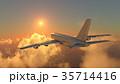 飛行機 乗り物 旅客機のイラスト 35714416
