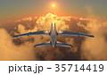 飛行機 乗り物 旅客機のイラスト 35714419