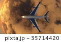 飛行機 乗り物 旅客機のイラスト 35714420