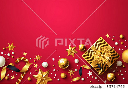 Christmas and New Years Red background 35714766