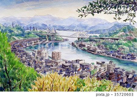 尾道 本四連絡橋のスケッチ 35720603