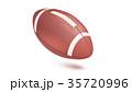 American striped football ball, diagonal position 35720996