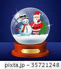 クリスマス サンタクロース ゆきだるまのイラスト 35721248