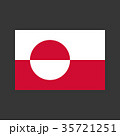 Greenland flag illustration 35721251