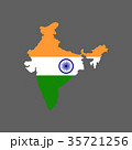 India flag and map 35721256