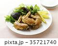 手羽先の甘辛焼き 手羽先焼き 肉料理の写真 35721740