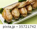 手羽先の甘辛焼き 手羽先焼き 肉料理の写真 35721742