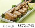 手羽先の甘辛焼き 手羽先焼き 肉料理の写真 35721743