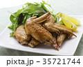 手羽先の甘辛焼き 手羽先焼き 肉料理の写真 35721744
