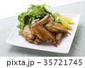 手羽先の甘辛焼き 手羽先焼き 肉料理の写真 35721745