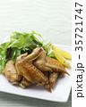 手羽先の甘辛焼き 手羽先焼き 肉料理の写真 35721747