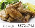 手羽先の甘辛焼き 手羽先焼き 肉料理の写真 35721748
