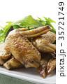 手羽先の甘辛焼き 手羽先焼き 肉料理の写真 35721749