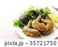 手羽先の甘辛焼き 手羽先焼き 肉料理の写真 35721750
