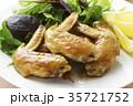 手羽先の甘辛焼き 手羽先焼き 肉料理の写真 35721752