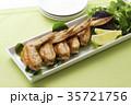 手羽先の甘辛焼き 手羽先焼き 肉料理の写真 35721756