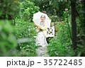 女性 シニア 日傘の写真 35722485