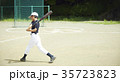 少年野球 バッティングの練習をする男の子 35723823