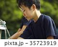 少年野球 男の子 水道の写真 35723919